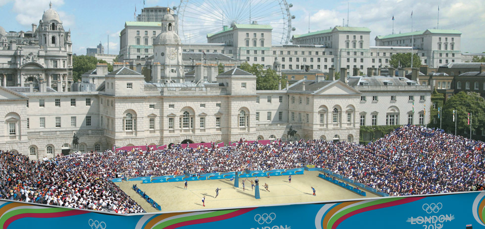 Our vision, Beach Volleyball at Horse Guards Parade