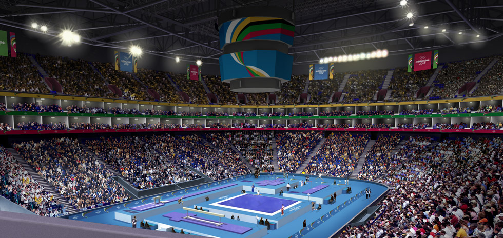 Our vision, the Gymnastics at the North Greenwich Arena