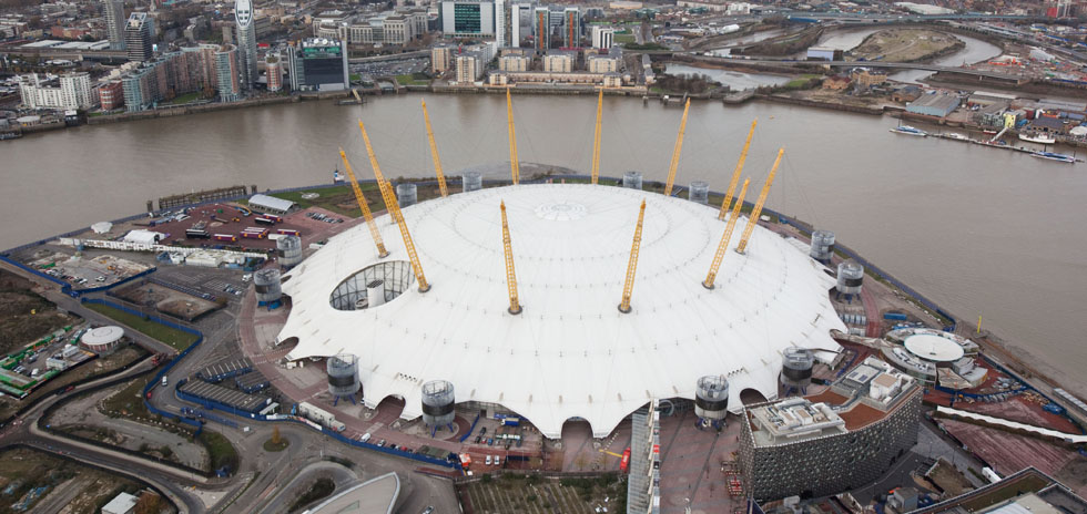 Aerial view of the North Greenwich Arena