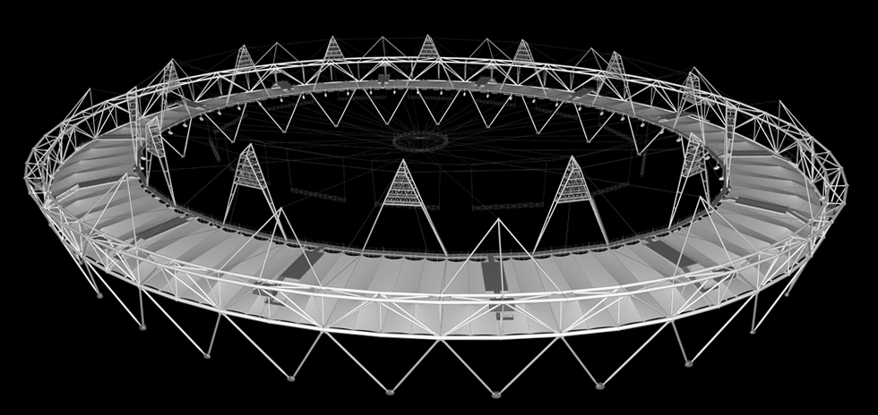 Olympic Stadium roof model