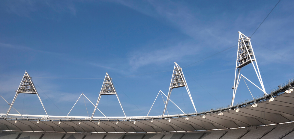 Olympic Stadium sports lights
