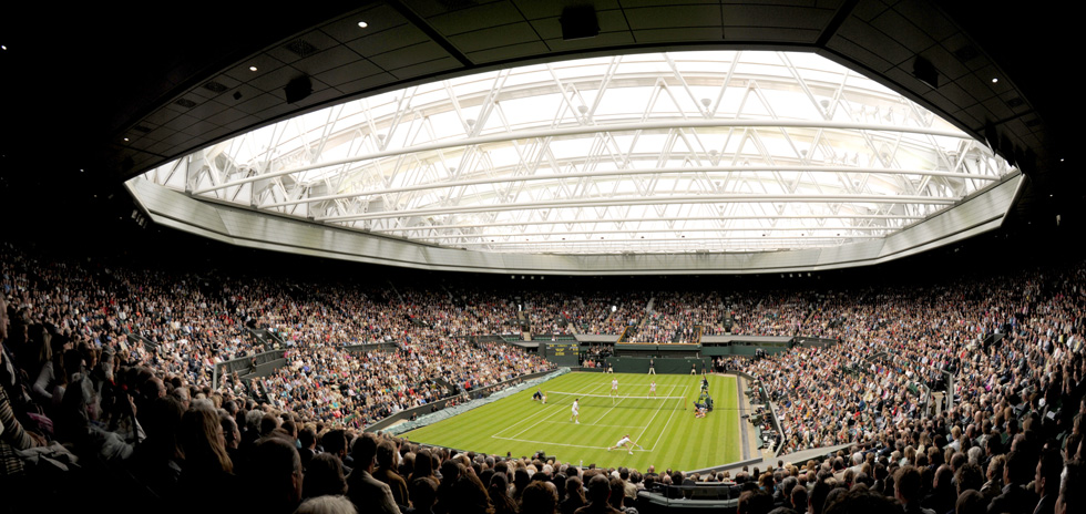 Inside Centre Court at Wimbledon