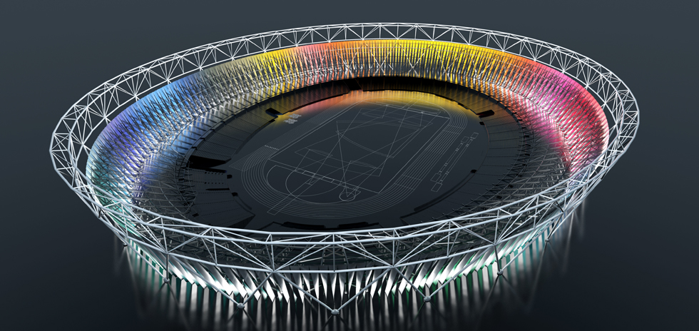 Artist's impression of the wrap colour spectrum