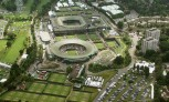 Aerial shot of Wimbledon
