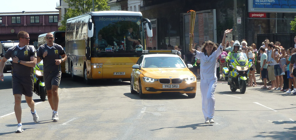 Madda, our second Olympic torch bearer